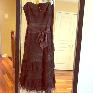 BCBG MAXZARIA lace and feather dress -new